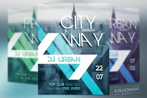 City Way Flyer Template