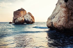 Aphrodite's rock and beach