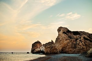Aphrodite's sunset rock and beach