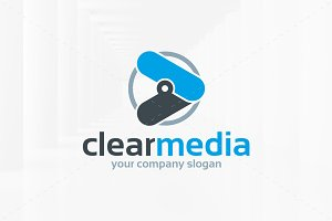 Clear Media Logo Template
