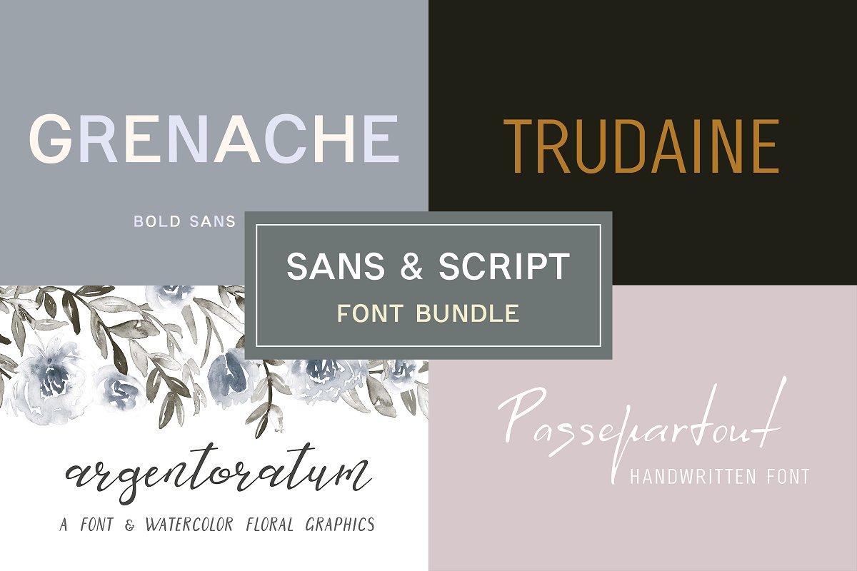 Sans & Script Font Bundle