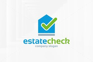 Estate Check Logo Template