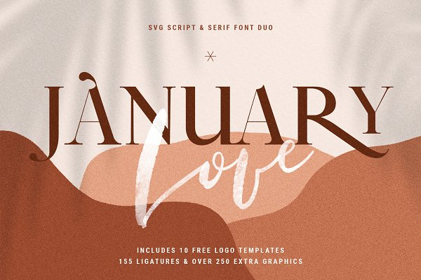 January Love Svg Font Duo Logos Stunning Script Fonts Creative Market