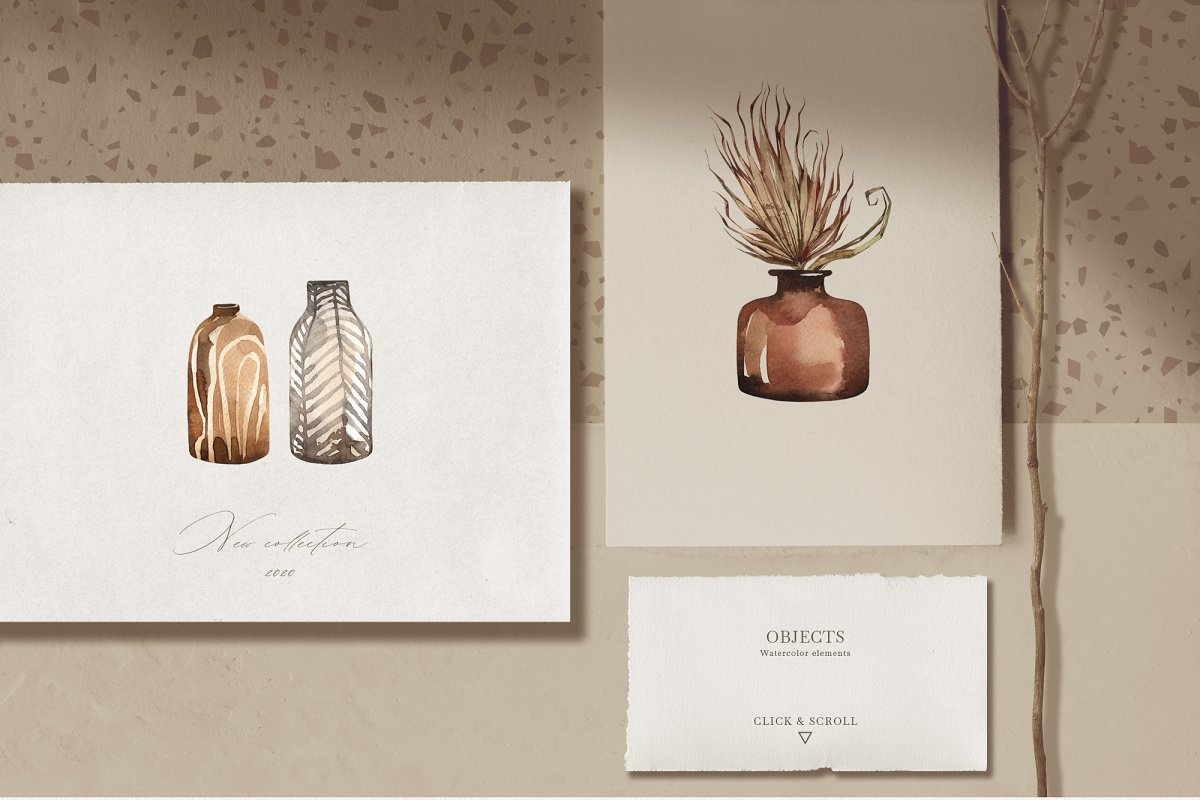 """SAVANNA"" Watercolor animals set in Illustrations - product preview 3"