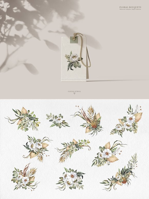 """SAVANNA"" Watercolor animals set in Illustrations - product preview 6"