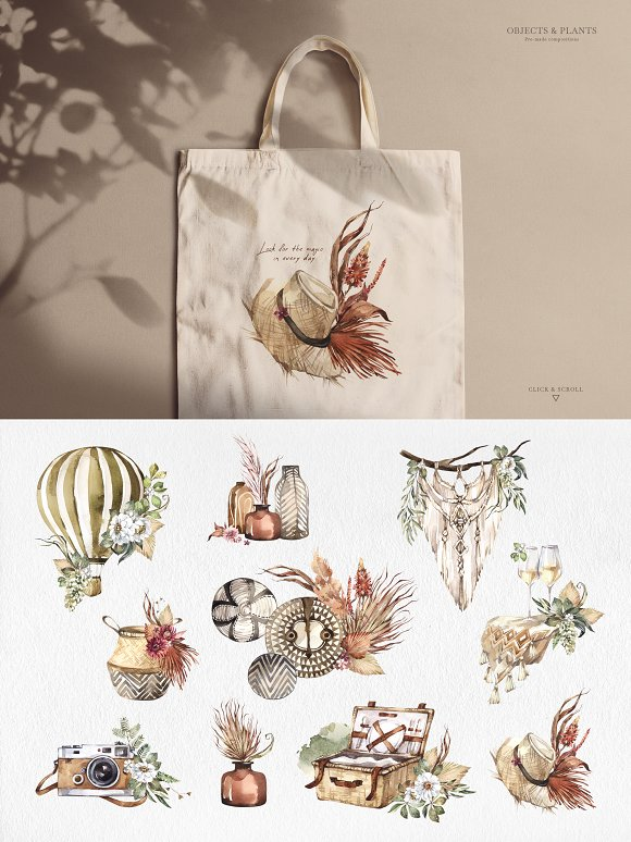 """SAVANNA"" Watercolor animals set in Illustrations - product preview 8"