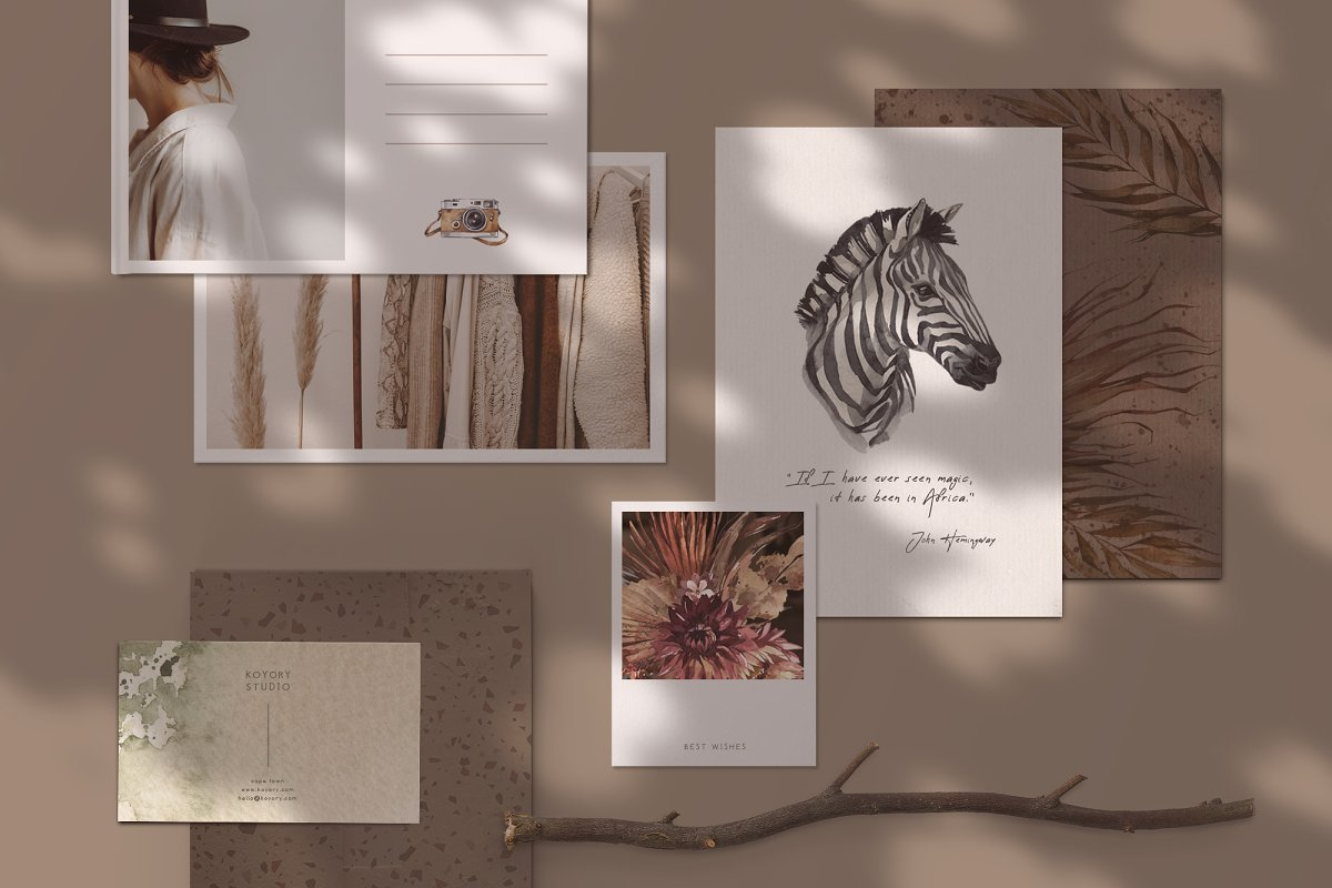"""SAVANNA"" Watercolor animals set in Illustrations - product preview 12"