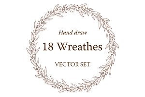 18 Vector Floral Wreathes