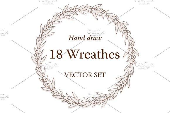18 Vector Floral Wreathes