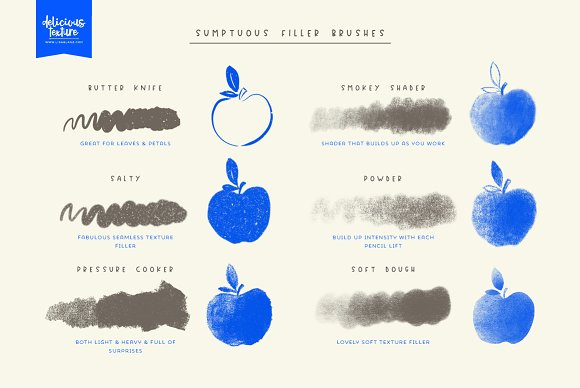 Delicious Texture Procreate Brushes in Add-Ons - product preview 3