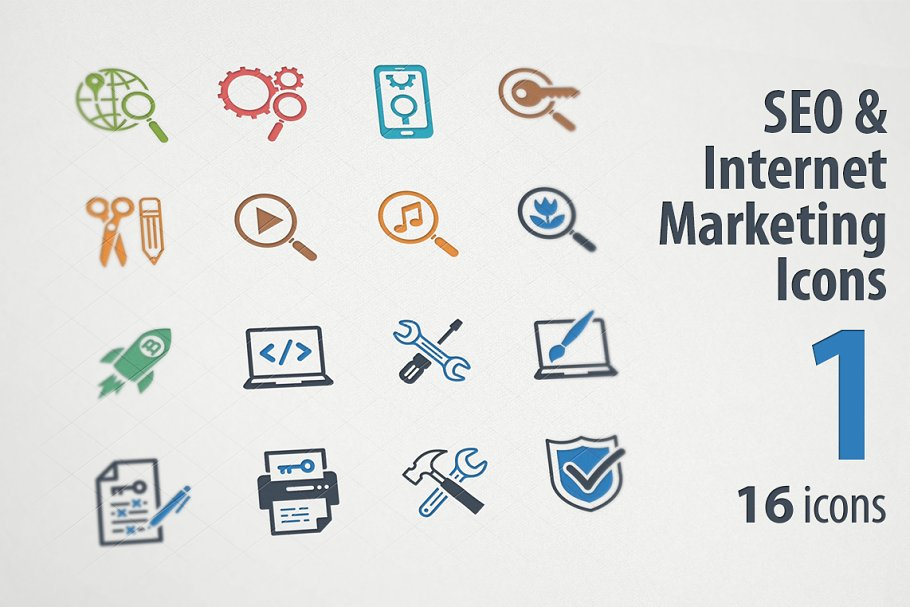 SEO & Internet Marketing Icons 1