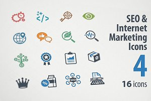 SEO & Internet Marketing Icons 4