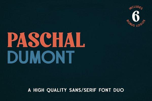 Paschal Dumont - a Modern Font Duo