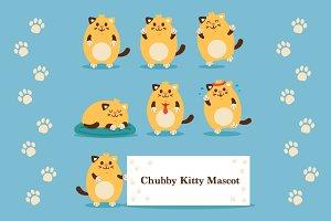 Chubby Kitty Mascot