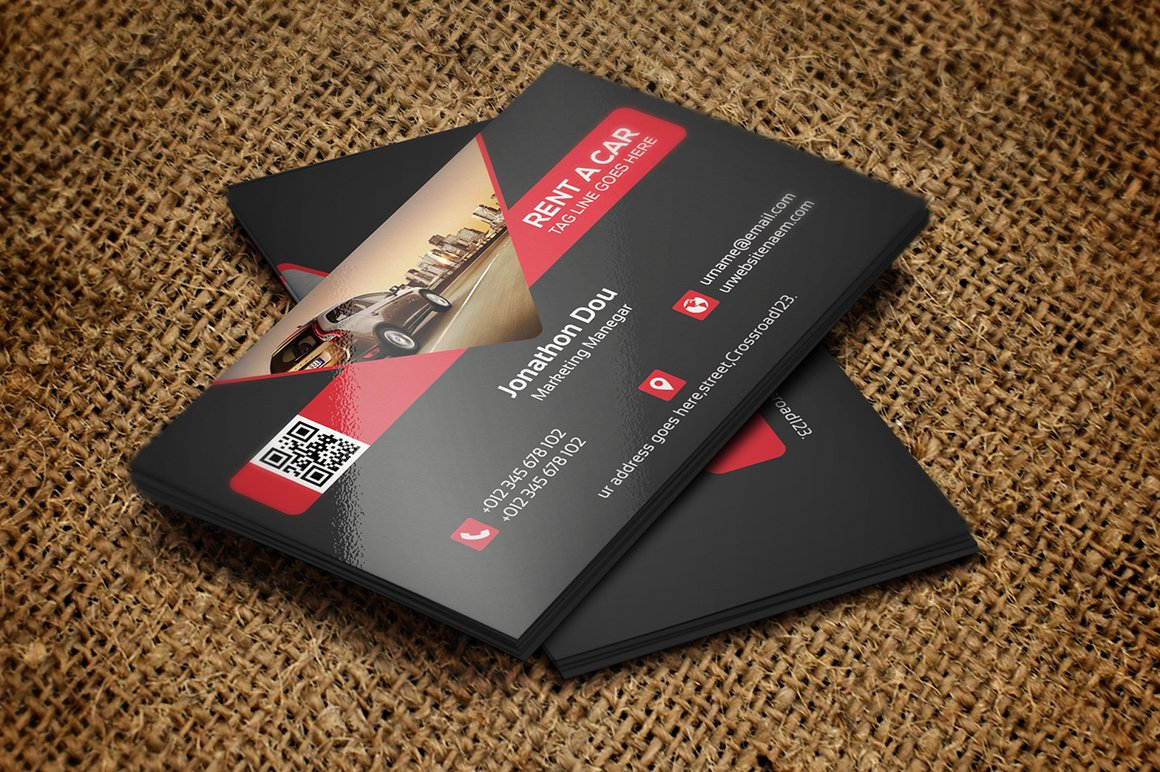 Car rental business card photos graphics fonts themes rent a car business card magicingreecefo Gallery