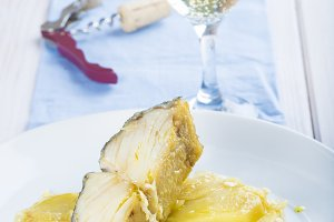 Baked cod with potatoes