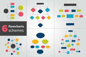 Flowchart schemes for infographics.