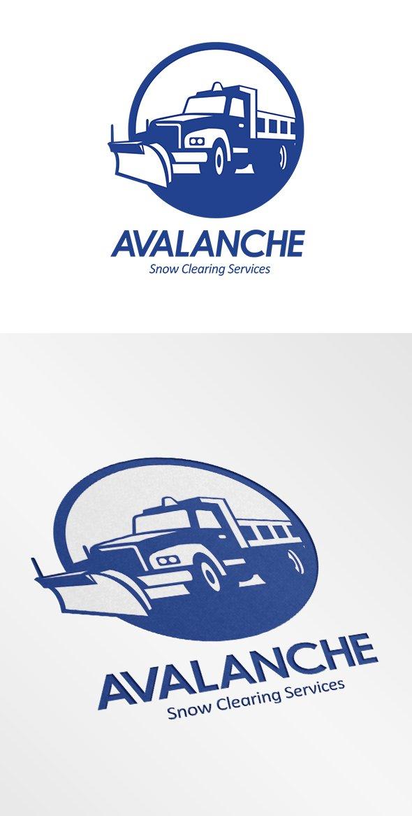 Avalanche Snow Removal Services Logo Logo Templates Creative Market