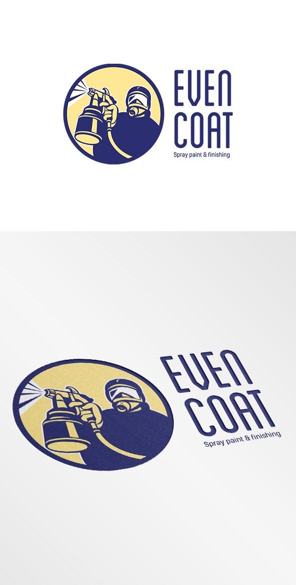 Even Coat Spray Paint Logo Logo Templates Creative Market