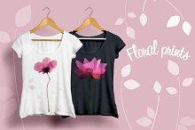 Floral polygonal prints