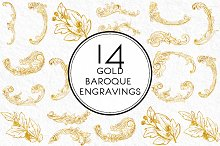 Gold Baroque Engravings