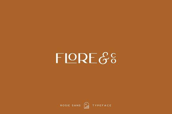 Rosie Sans - Gorgeous Typeface in Sans-Serif Fonts - product preview 10