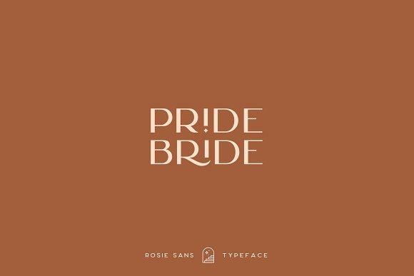 Rosie Sans - Gorgeous Typeface in Sans-Serif Fonts - product preview 14