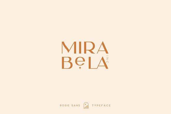 Rosie Sans - Gorgeous Typeface in Sans-Serif Fonts - product preview 15