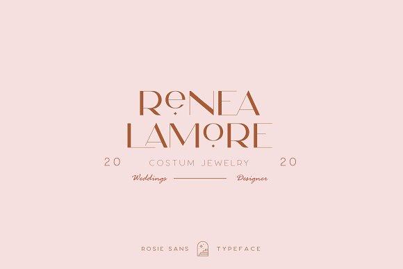 Rosie Sans - Gorgeous Typeface in Sans-Serif Fonts - product preview 19