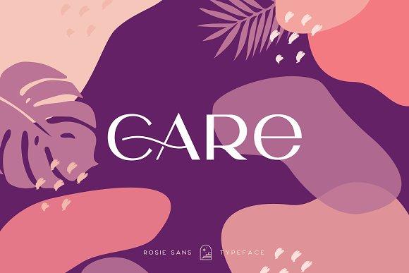 Rosie Sans - Gorgeous Typeface in Sans-Serif Fonts - product preview 40