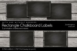 Rectangle Chalkboard Labels