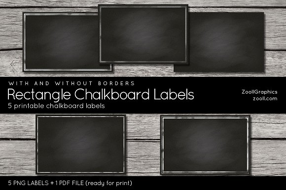 Rectangle Chalkboard Labels