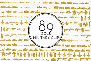Gold Military Clip