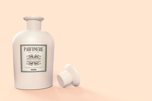 Pattern&Label Parfum Bottle Mockup in Product Mockups - product preview 1