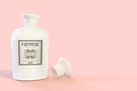 Pattern&Label Parfum Bottle Mockup in Product Mockups - product preview 2