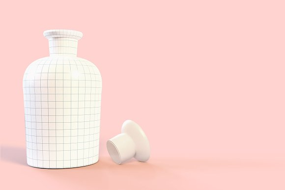 Pattern&Label Parfum Bottle Mockup in Product Mockups - product preview 3