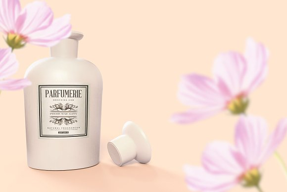 Pattern&Label Parfum Bottle Mockup in Product Mockups - product preview 6