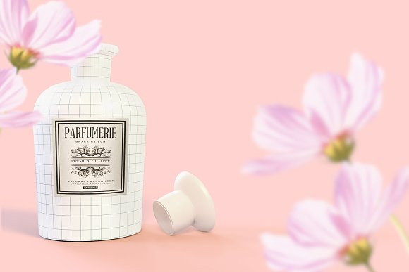 Pattern&Label Parfum Bottle Mockup in Product Mockups - product preview 7