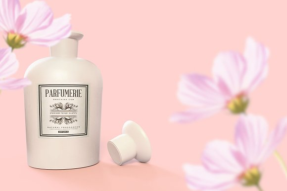 Pattern&Label Parfum Bottle Mockup in Product Mockups - product preview 8