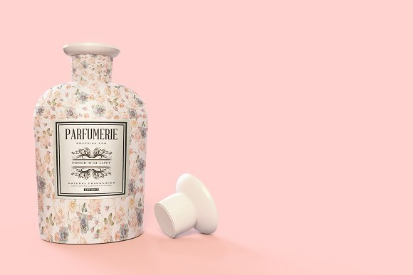 Pattern&Label Parfum Bottle Mockup in Product Mockups - product preview 9