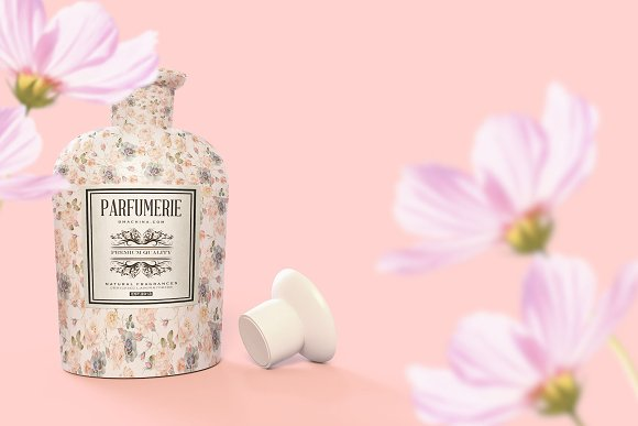 Pattern&Label Parfum Bottle Mockup in Product Mockups - product preview 10
