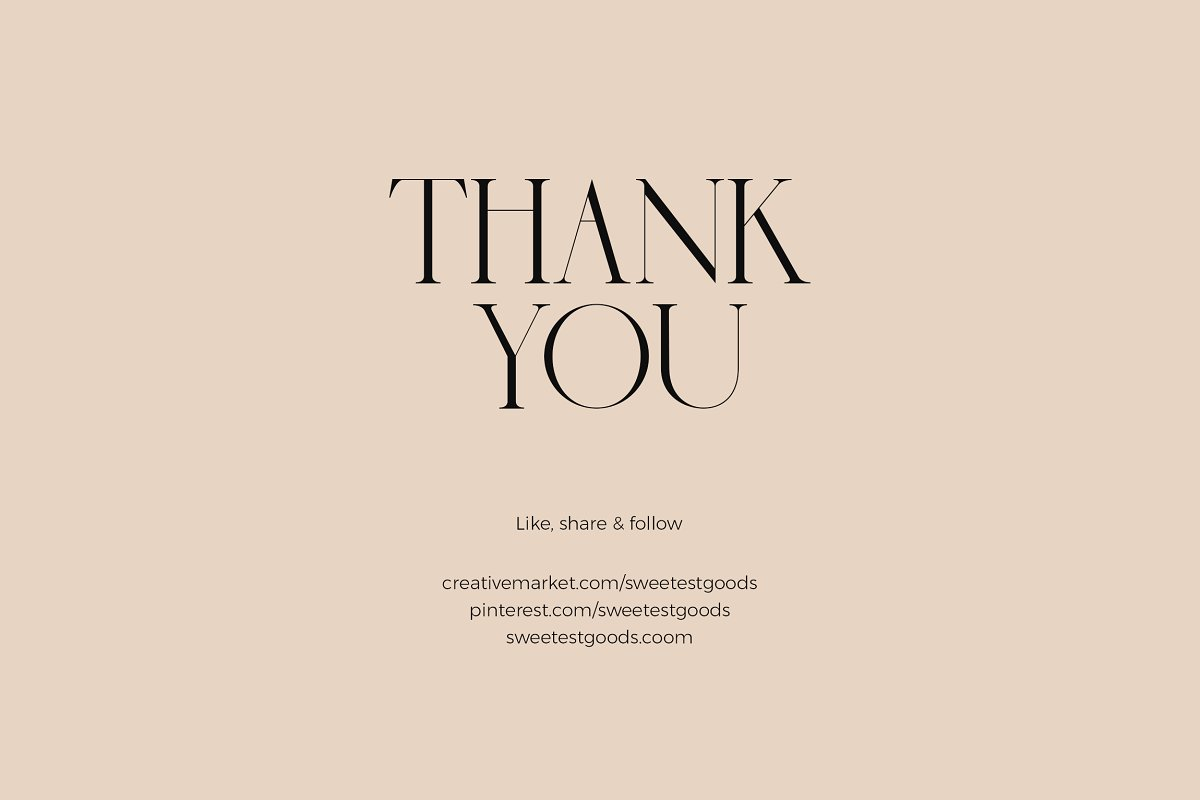 sauvage font sweetest goods thank you