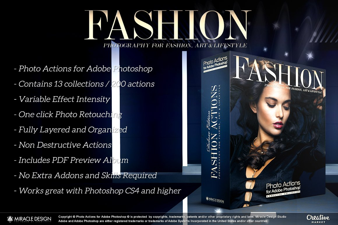 Actions For Photoshop Fashion Unique Photoshop Add Ons Creative Market