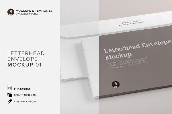 Letterhead Envelope Mockup 01