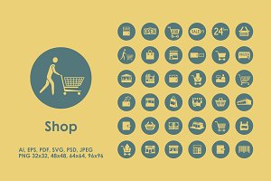 36 shop icons