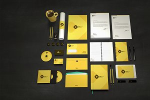 Branding Identity Stationary Mock up