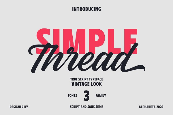 Simple Thread | Font Collection