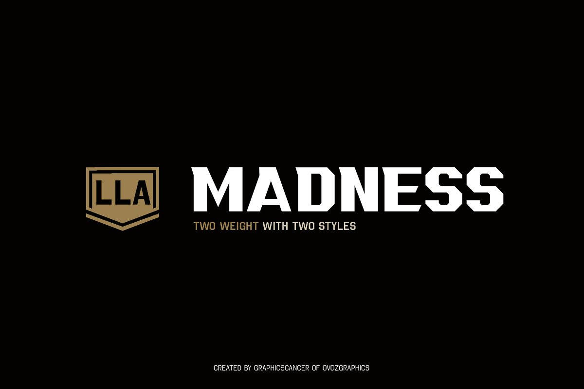 LLA MADNESS Sports Display Font