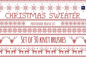 Christmas Sweater Brushes Photoshop