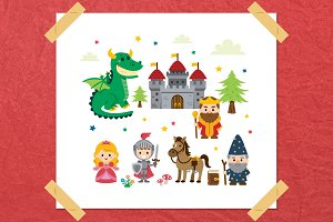 Fantasy Fairy Tale Clipart kit